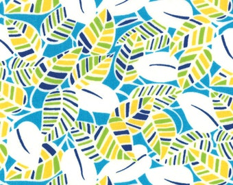 Eat Your Fruits and Veggies 1 & 1/2 Yard Remnant 43002-16 Green Blue Yellow