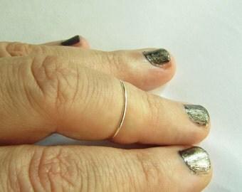 Plain Knuckle Ring / Basic Midi - Handmade. Tarnish Resistant. Hypoallergenic. Adjustable. Personalized