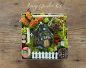 Fairy Garden Kit - Fairy Garden Accessories - Fairy Garden Supply - Fairy Garden Decor - DIY Fairy House - moss, squirrel, furniture, items