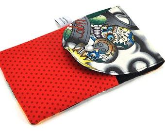 Needle Wallet - Mini Knitting Needle Pocket Organizer - Contigo, skulls