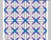 Cathedral Corners #221.3 12in and 18in Sizes - Paper Piecing Quilt Pattern PDF