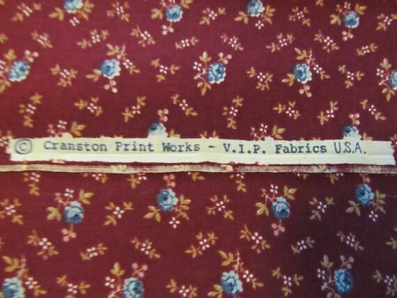 Free Shipping! Vintage VIP Fabrics USA. Cranston Print