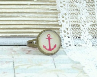 Anchor Ring Nautical Ring Beach Ring Dainty Ring Beach Lovers Gift Ocean Ring Anchor Jewelry