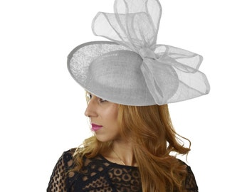 Silver Kelaa Fascinator Hat for Kentucky Derby,Melbourne Cup, Ascot (other colors)