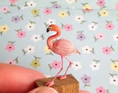 Lillian Long Legs Flamingo Miniature Ornament