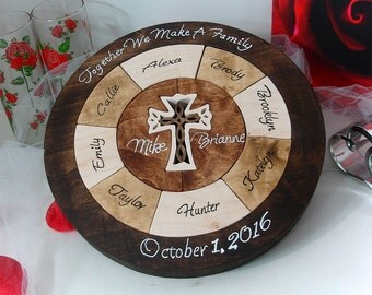 Unity Ceremony Wedding Puzzle  Custom Designed Personalized Christmas Gift For Grandparents Blended Family Wedding Puzzle Wooden Tray Puzzle