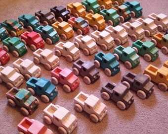 Wood toy truck