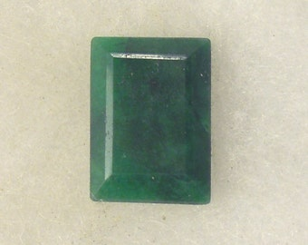 20 carat  .....  faceted emerald gemstone  ...  19 x 16 x 8 MM
