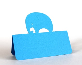 Elephant Place Cards Set of 25, baby elephant, baby shower, escort cards, baby party, baptism, baptism lunch