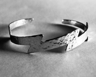Silver Lightning Bolt Cuff Bracelet