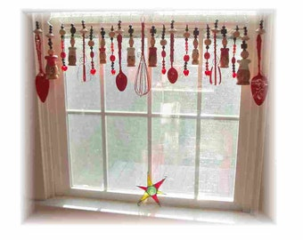 FREE SHIPPING!  Savings of Twenty Dollars Shipping Cost! Please Pass The Salt  Kitschy Kitchen Window Treatment Valance Curtain