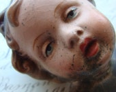 Antique Chippy Santos Hand painted Cherub Angel Western Germany