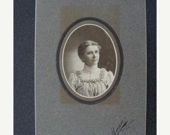 ONSALE Antique Cabinet Photo Card Margaret