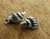 Tiny Sterling Silver Cone Shell Charms  - ctcs