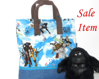Star Wars  Clone Wars Child Tote /Jedi / Yoda / Kindergarten Tote / Book Bag / Overnight / Travel /Toy Storage / SALE / REDUCED