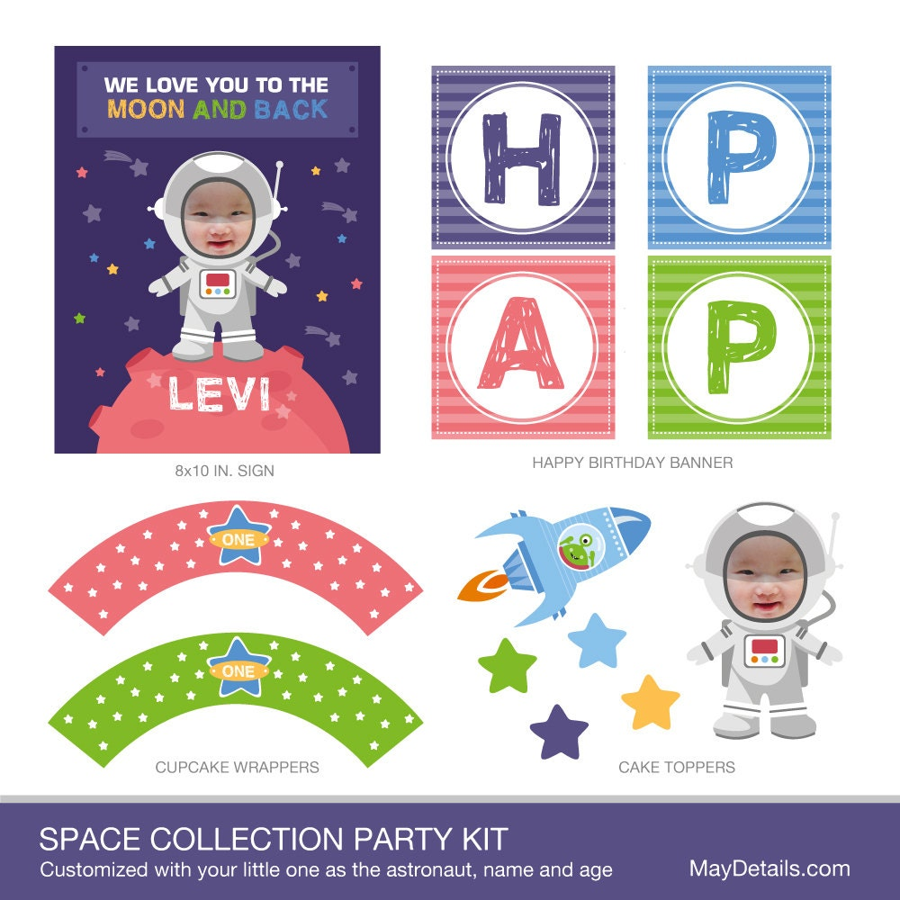 Space Astronaut Party Decorations Space Party Decor Alien - Astronaut decorations