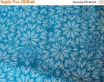 SALE Turquoise Blue Medallion Fabric - Studio e