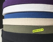 50yd roll-Lightweight Cotton Webbing - various colors (50 yd rolls)