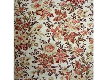 Surprise SALE - Antique French Fabric Exotic Cotton 19thc