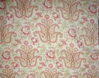 Surprise SALE - Adorable Antique French Cotton Fabric Paisley Floral Quilt Pillow