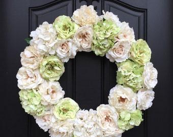 Wedding Decorations, Wedding Wreaths, Decorations Weddings, Wreath for Wedding, Blush Wedding Peonies, Wedding Hydrangeas, Wedding Roses