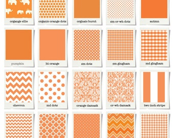 Custom Baby Bedding & Stokke Bedding // Orange // 100% Premium Combed Percale Cotton // Choose your fabric // Choose your trim