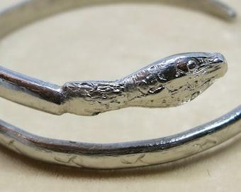 A Snake Bracelet in Alpaca Silver