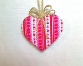 Pink/Red Heart Ornament | Valentines Day | Spring Decor | Party Favor | Birthday | Tree Ornament | Holidays | Decoration | #2