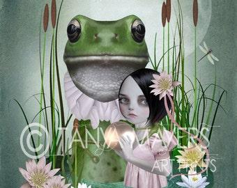 A3 Art print - Fairytale - Wall Decor - Princess & The Frog