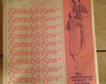 Stretch and Sew 235 All Sizes Dolman Sleeve Blouse and Dress Pattern UNUSED
