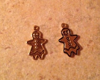 56 Gingerbread Girl Charms for Crafting and Jewelry Making
