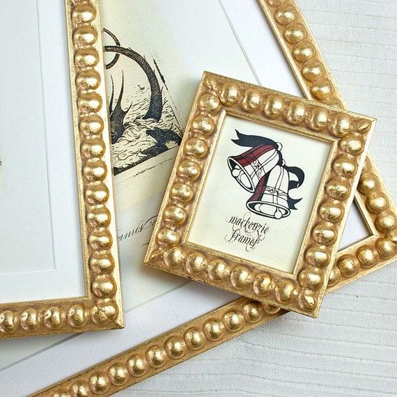 Tiny Narrow Gold Boule Photo Picture Frame/Wedding Decor/Bridesmaids Gift/Office Desktop Mini Photo Frame