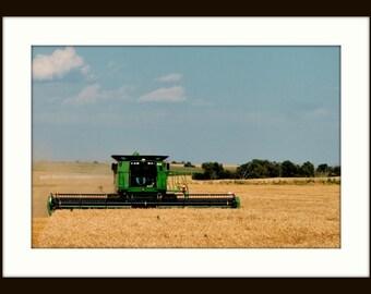 Grain Harvest Western Oklahoma
