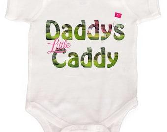 Baby Golf Bodysuit Daddy Creeper Boy or Girl Baby Golf Creeper  Newborn Romper to Kids Tshirts