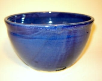 Blue Serving Bowl for Pasta Bowl Fruit Bowl Soup and Salad in Cobalt Pottery
