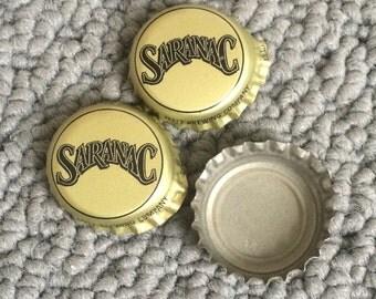 Saranac Beer Bottlecaps, Set of 3