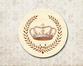 Stickers Envelope Seals Crown Wreath Royalty Wedding Party Favor Treat Bag Sticker SP081