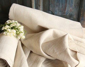 R 23 +R 23a antique handloomed PACKAGE of 2 bolts of matching linen 30.93yards perfect for FRENCH upholstering  curtain projects
