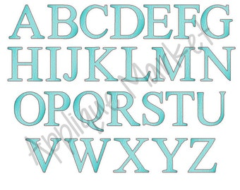 Machine Embroidery Design Serif Sketch Fill Alphabet INSTANT DOWNLOAD