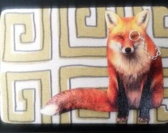 Fantastic Mr. Fox with Monocle Wall Decor in yellow/white/grey