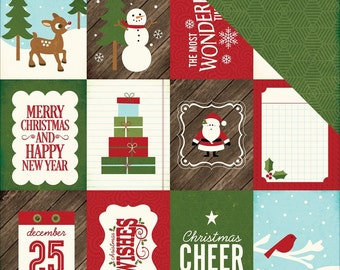 12 Story of Christmas Journaling Cards by Echo Park . Labels, Scrapbook Embellishments or Card Starters