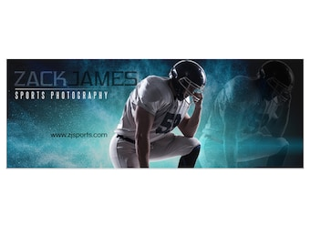 Photoshop Template | Amped-Up Sports | Facebook Timeline Cover | Powder Explosion | 1 Digital Template for Personal & Business Pages.