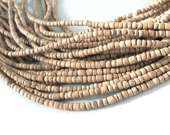 Tiny natural coconut beads 2-3mm  (PC230C)