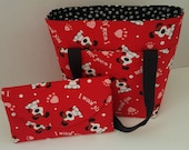 I Woof You! Diabetic Supply Bag / Tote - Set of 2