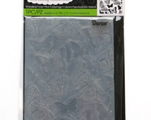 Butterflies folder - A2 Embossing Folder - Darice folder - 2014 - card making - a2 embossing folders - gift for card maker - Card Embossing