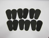 "2mm Doll Soles, 12-Pack Doll Soles, 12-Black 2mm Foam Doll shoe Soles, 18"" die cut doll soles, foam doll shoe supplies"
