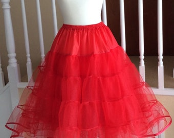 Red 3 layer petticoat vintage style
