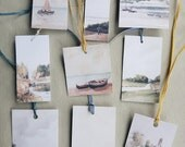 Land & Sea tags...set of 9