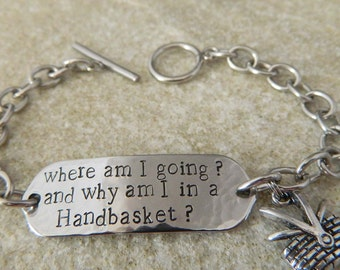 Going to Hell in a Handbasket Stainless Steel Bracelet
