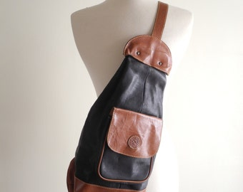 Buttery leather 90s cross body backpack OS